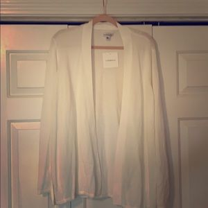 White open sweater
